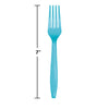 Bermuda Blue Plastic Forks, 50 ct Party Decoration