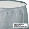 "Shimmering Silver Plastic Tableskirt, 14' X 29"" Party Decoration"