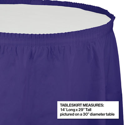 "Purple Plastic Tableskirt, 14' X 29"" Party Decoration"