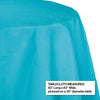 "Bermuda Blue Tablecover, Octy Round 82"" Polylined Tissue Party Decoration"
