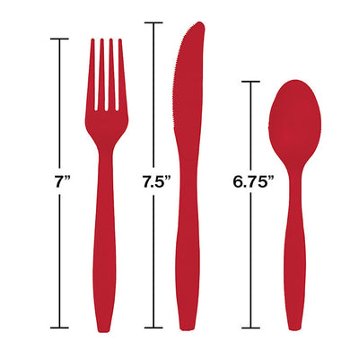 Classic Red Assorted Cutlery, 18 ct Party Decoration