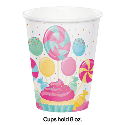 Candy Bouquet Hot/Cold Cups 8Oz. 8ct Party Decoration