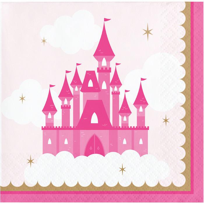 Little Princess Beverage Napkins 16ct by Creative Converting