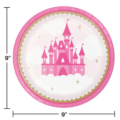 Little Princess Dinner Plate 8ct Party Decoration