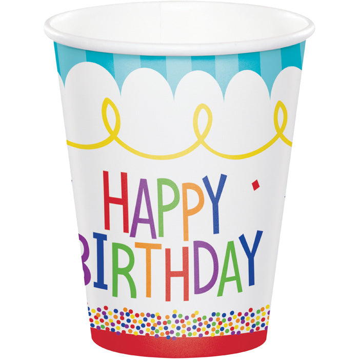 Cake Birthday Hot/Cold Cups 8Oz. 8ct by Creative Converting