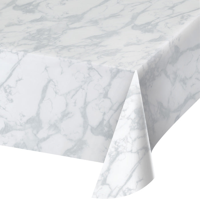 "Marble Print Plastic Tablecover 54"" X 108"" by Creative Converting"