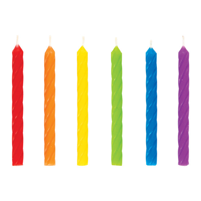 Spiral Rainbow Candles 24ct by Creative Converting