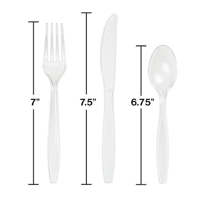 Clear Assorted Cutlery Clear, 18 ct Party Decoration