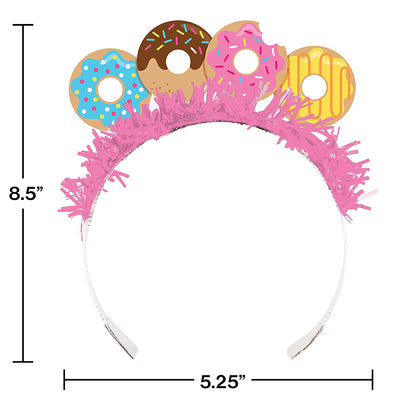 Donut Time Tiaras, 8 ct Party Decoration