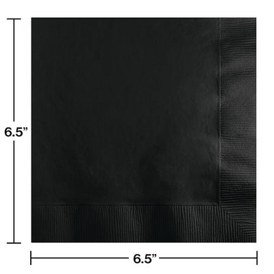 Black Velvet Luncheon Napkin 2Ply, 50 ct Party Decoration
