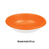 Sunkissed Orange Paper Bowls 20 Oz., 20 ct Party Decoration