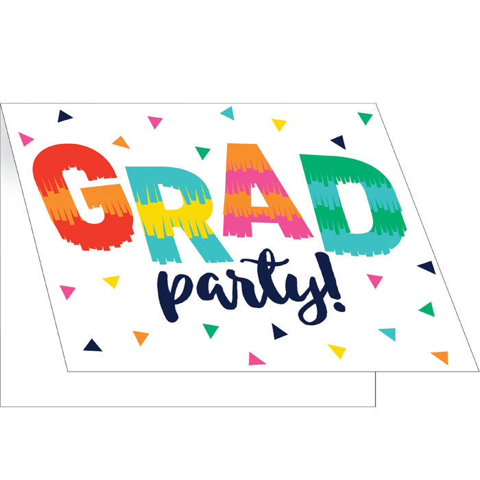 Fiesta Fun Grad Invitation, Foldover 8ct by Creative Converting
