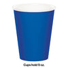 Cobalt Hot/Cold Paper Cups 9 Oz., 8 ct Party Decoration