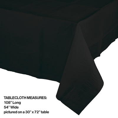 "Black Velvet Tablecover 54""X 108"" Polylined Tissue Party Decoration"
