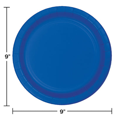 Cobalt Blue Paper Plates, 8 ct Party Decoration