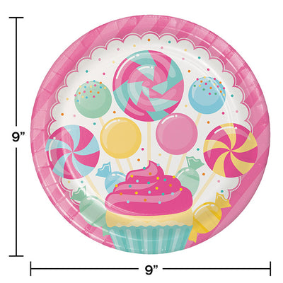 Candy Bouquet Paper Plates, 8 ct Party Decoration