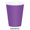 Amethyst Hot/Cold Paper Cups 9 Oz., 24 ct Party Decoration