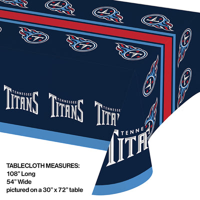 "Tennessee Titans Plastic Tablecloth, 54"" X 108"" Party Decoration"