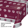 "Texas A And M University Plastic Tablecloth, 54"" X 108"" Party Decoration"