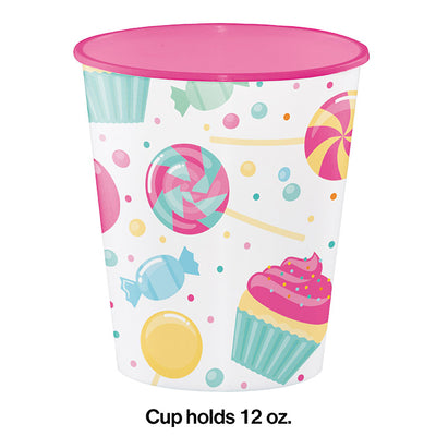 Candy Bouquet Plastic Cups, 12 Oz Party Decoration