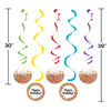 Confetti Sprinkles Dizzy Danglers, 5 ct Party Decoration