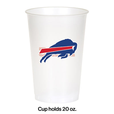 Buffalo Bills Plastic Cup, 20Oz, 8 ct Party Decoration