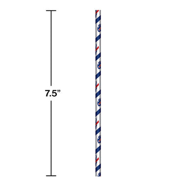 Buffalo Bills Paper Straws, 24 ct Party Decoration