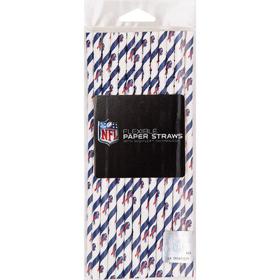 Buffalo Bills Paper Straws, 24 ct Party Supplies