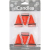 Construction Cone Candles, 6 ct Party Supplies