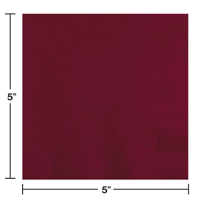 Burgundy Beverage Napkin 2Ply, 50 ct Party Decoration
