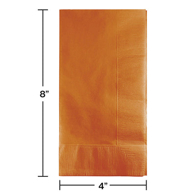Pumpkin Spice Dinner Napkins 2Ply 1/8Fld, 50 ct Party Decoration