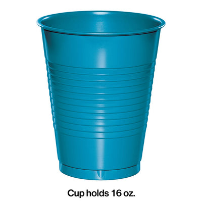 Turquoise Blue Plastic Cups, 20 ct Party Decoration