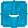 Turquoise Blue Plastic Forks, 24 ct Party Supplies