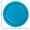 Turquoise Blue Dessert Plates, 24 ct Party Decoration