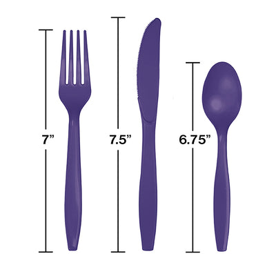 Purple Assorted Cutlery, 18 ct Party Decoration