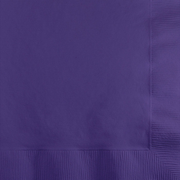 Purple Beverage Napkin, 3 Ply, 50 ct by Creative Converting