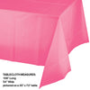 "Candy Pink Tablecover Plastic 54"" X 108"" Party Decoration"