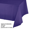"Purple Plastic Tablecover 54"" X 108"" Party Decoration"