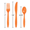 Sunkissed Orange Assorted Plastic Cutlery, 24 ct Party Decoration
