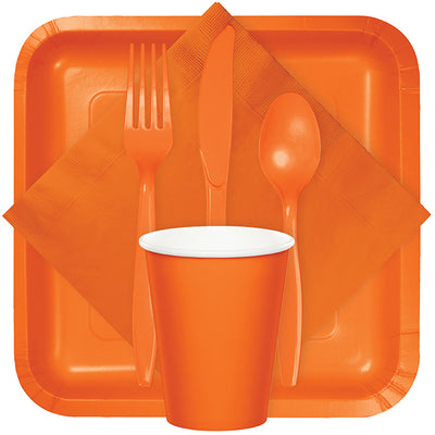 Sunkissed Orange Assorted Plastic Cutlery, 24 ct Party Supplies
