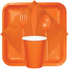 Sunkissed Orange Plastic Forks, 24 ct Party Supplies
