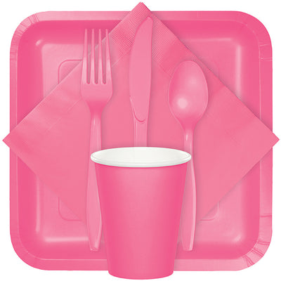 Candy Pink Plastic Spoons, 50 ct Party Supplies