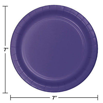 Purple Dessert Plates, 24 ct Party Decoration