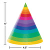 Rainbow Adult Party Hats, 8 ct Party Decoration