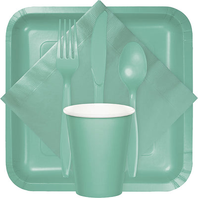 Fresh Mint Green Assorted Plastic Cutlery, 24 ct Party Supplies