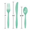 Fresh Mint Green Assorted Plastic Cutlery, 24 ct Party Decoration