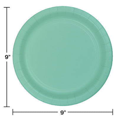 Fresh Mint Green Paper Plates, 24 ct Party Decoration
