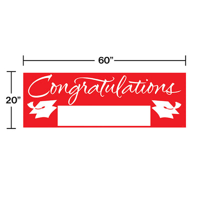 Red Graduation Party Banner Party Decoration