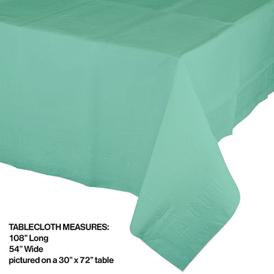 "Fresh Mint Plastic Tablecover 54"" X 108"" Party Decoration"