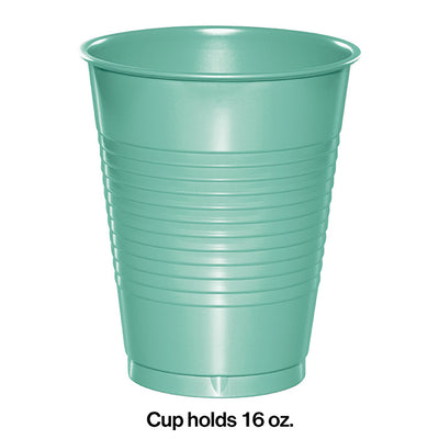 Fresh Mint Green Plastic Cups, 20 ct Party Decoration